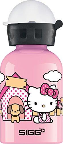 SIGG Hello Kitty Cute Kinder Trinkflasche (0.3l), schadstofffreie Kinderflasche mit auslaufsicherem Deckel, schöne Wasserflasche aus Aluminium