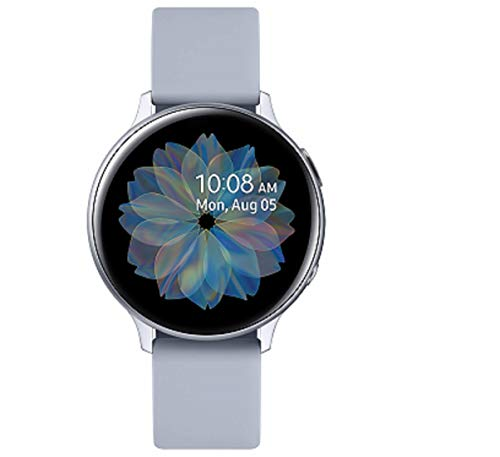 Samsung Galaxy Watch Active2 Explorer Edition, Fitnesstracker aus Aluminium, großes Display, ausdauernder Akku, wassergeschützt, 40 mm, inklusive 2x araree Schutzfolie, Bluetooth, Silber