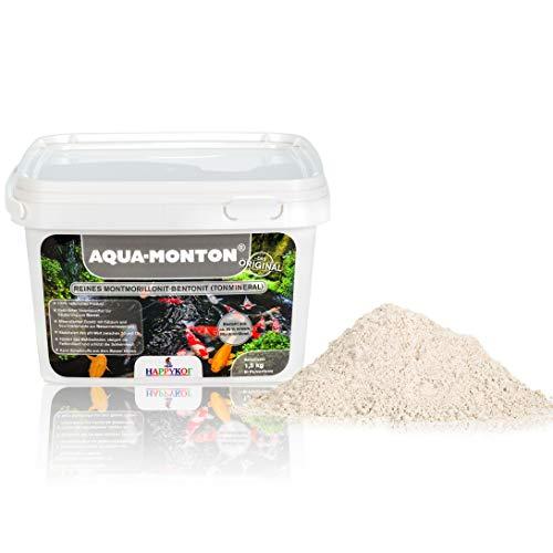 HAPPYKOI® Aqua-Monton® reines Montmorillonit-Bentonit Tonmineral HAPPYKOI® Aqua-Monton Aqua Mont 1,5 kg