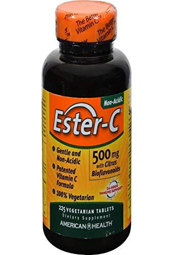 American Health | Ester-C mit Zitrus-Bioflavonoiden | 500 mg | 225 vegane Tabletten | glutenfrei | sojafrei