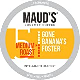 Maud's Banana Foster Coffee (Gone Banana's Foster), 50ct. Solar Energy Produced Recyclable Single Serve Banana Foster Coffee Pods – 100% Arabica Coffee California Roasted, KCup Compatible