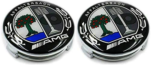 JXUS Mercedes AMG AMG AFFALTERBACH Conjunto de 2 Gorras de Centro de Ruedas OEM Hubcaps 75mm / 3 Pulgadas BK (Color : Multi-Colored)