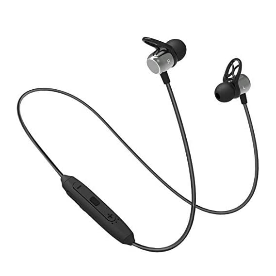 (Renewed) Bluetooth Headphones PTron Intunes Evo Bluetooth 5.0 in-Ear Sport Bluetooth Earphone Wireless Neckband with Mic (Grey/Black)
