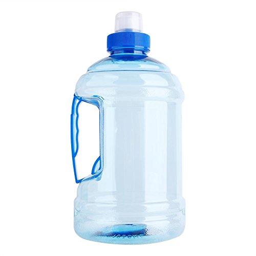 Sport Waterfles, 1L groot BPA gratis plastic flessendop Ketel Drinkcontainer met handvat voor outdoor training partij Fitness Gym