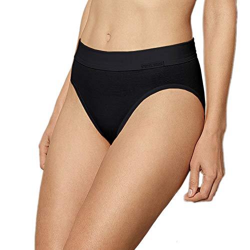 5 Stück Jazzpants Sport Edition Damen Unterwäsche Slip Unterhose 100% Bio Baumwolle Farbe: schwarz Größen 38-48 Größe 38