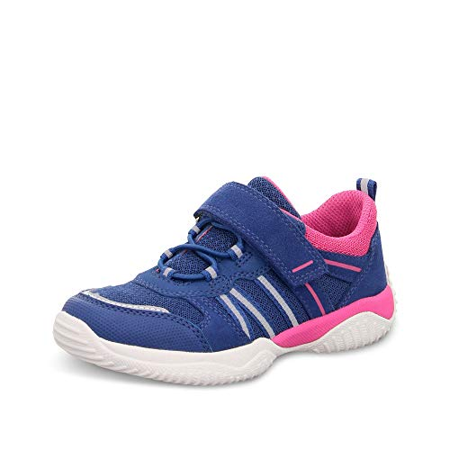 Superfit Mädchen STORM Sneaker, (Blau/Rosa 81), 30 EU