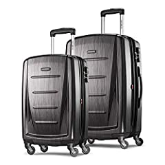 2 PIECE SET contains: 20 inch Carry On (meets carry on size restrictions for those traveling domestically and looking to stay light) and 24 inch Spinner (maximize your packing power and the ideal checked bag for longer trips) SIDE-MOUNTED TSA LOCKs a...