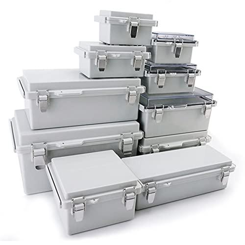 Caja derivación estanca, 1 unids Caja de conexiones eléctrica impermeable con HASP, Caja de encosido de plástico con interruptor sellado al aire libre Cajas de distribución eléctrica