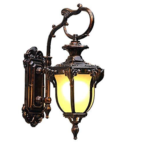 LEIKAS Lámpara de Pared Estilo Europeo y Americano al Aire Libre Lámpara de jardín Impermeable Lámpara de balcón Lámpara de jardín Corredor Terraza Lámpara de Pared Exterior Puerta Exterior FR