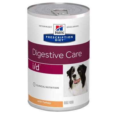 Hill Prescription Diet Canine i/d Digestive Care Turkey 12 x 360g Dietetic Food Dogs Gastro-intestinal Problems & Aid Recovery Easily Digestible Ingredients