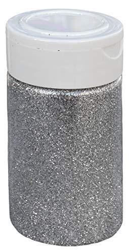 Schimmernder Glitzerpuder Glitzer-Pulver zum Basteln und Verzieren von Karten, bunter Glitter für Dekoration, (Silber 100g)