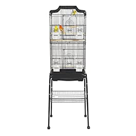 LIBERTA LOTUS BUDGIE CANARY FINCH COCKATIEL BLACK BIRD CAGE WITH C1 STAND