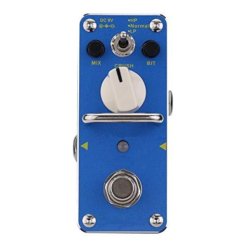 Pedal de Efectos de Guitarra Pedal de Efecto Guitarra eléctrico Mini Efecto único con Bypass Verdadero para Guitarra (Color : Azul, Size : 9 x3.8 x 4.8cm)