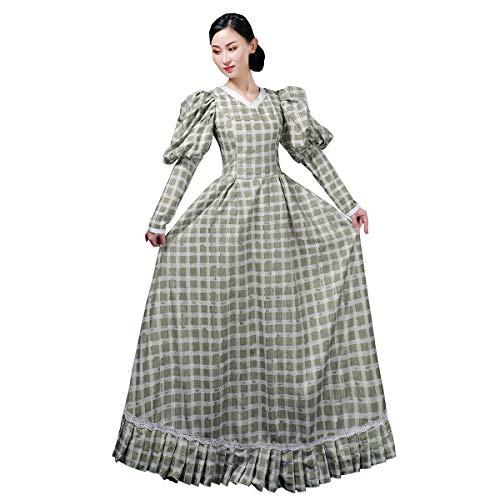 Disfraz de doncella rococó victoriana para mujer, vestido barroco del siglo XVIII -  -  XXX-Large:Altura68-70'Pecho50-52'Cintura43-45'