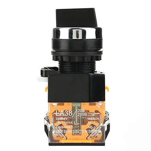 Interruptor selector giratorio de 2 posiciones Interruptor de reinicio automático Interruptor giratorio...