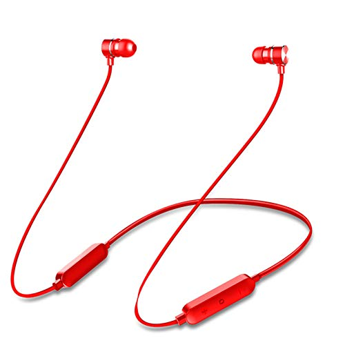 DSWF Auriculares Bluetooth inalámbrico de Jinhang 5.0 Deportes Impermeables Auriculares estéreo Binaural Binaural Red