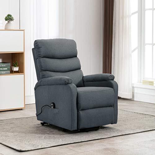 FAMIROSA Sillón reclinable de Tela Gris claro-1236