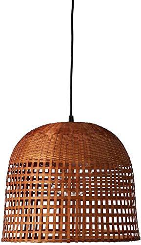 Peter en Beam Moderne geweven mand Bamboe Kroonluchter Bol met 20,8 X 21,6 X 75 Inches