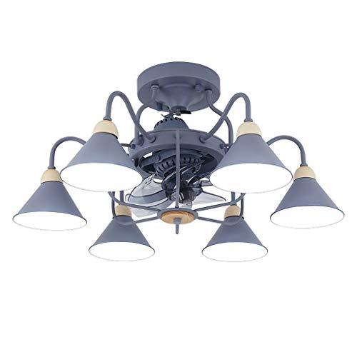 TMY Nordic Ceiling Fan LED Lamp Fan Light Negative Ion Stealth Electric Fan Chandelier for Dining Room Modern Minimalist Bedroom
