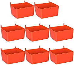 Exanko 8 Stuks Pegboard Bins Kit Pegboard Onderdelen Opslag Pegboard Accessoires Werkbank Bins voor het Organiseren van Ha...