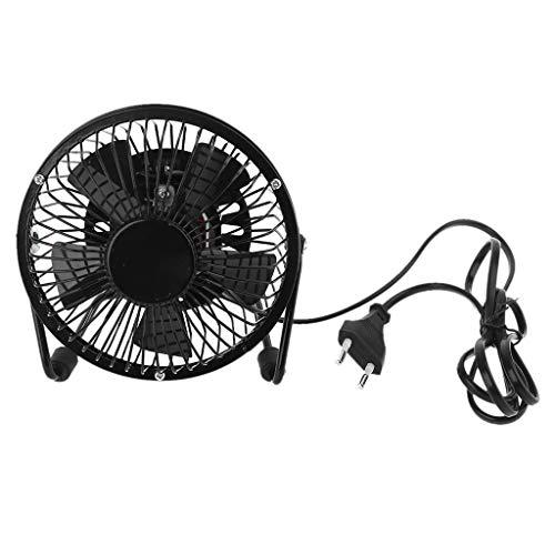 huiingwen US EU UK Plug AC 110V 220V Ventilatori Elettrici, Piccola Ventola da Tavolo in Metallo Adatta per Ventilatore Personale di Casa E Ufficio