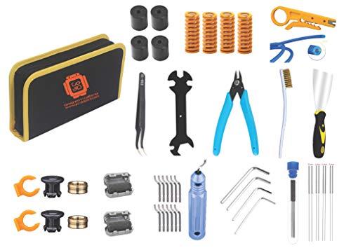 GO-3D PRINT Kit de 48 outils pour le bricolage, l'entretien et le nettoyage d'imprimante 3D avec étui de transport