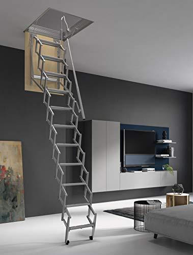 ¡hasta 150 Kg DE Carga! Escalera Plegable y escamoteable para Hueco de 60x90 cm.