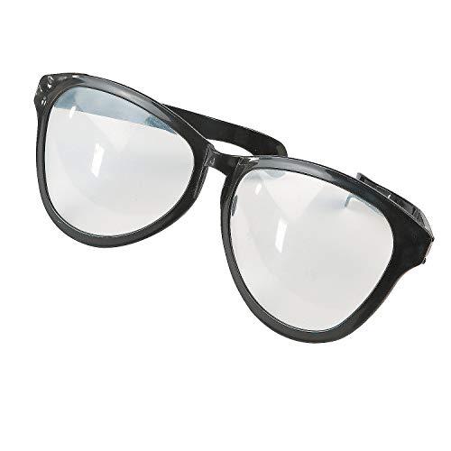 Fun Express - Jumbo Glasses Black - Apparel Accessories - Eyewear - Novelty Glasses - 1 Piece