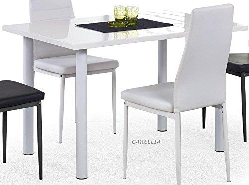 Table A Manger RECTANGULAIRE - L : 120 CM X P : 80 CM X H : 76 CM - Couleur : Blanc