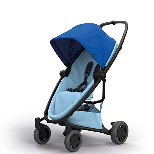 Quinny Zapp Flex Plus Vier Räder Buggy, stylischer Kinderwagen mit viel Komfort und Flexibilität, leicht und extrem kompakt zusammenfaltbar, nutzbar ab der Geburt (z.B. mit Lux Babywanne), blue on sky