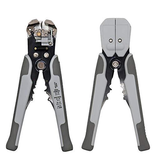 SPRINGHUA HS-D1 / D2 autoajustables pinzas de aislamiento Pelacables 0.2-6mm2 de desmontaje del cable que prensa herramienta del cortador Pelacables (Color : HS D2 Gray)