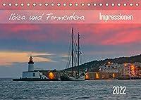 Ibiza und Formentera Impressionen (Tischkalender 2022 DIN A5 quer): Altstadtgassen, Landschaften, Abendrot und weitere Impressionen festgehalten in zwoelf beeindruckenden Fotografien (Monatskalender, 14 Seiten )