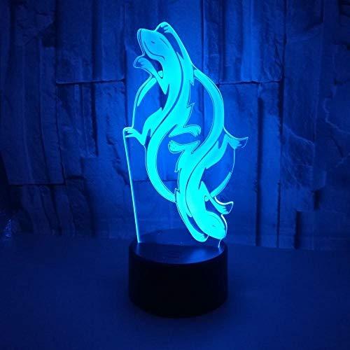 3D Illusion Nachtlicht 7 farbe Led Vision Gecko ModelFl Hing Sensor USB Hause Schlafzimmer Dekoration Schreibtisch bunte Kreative geschenk Fernbedienung