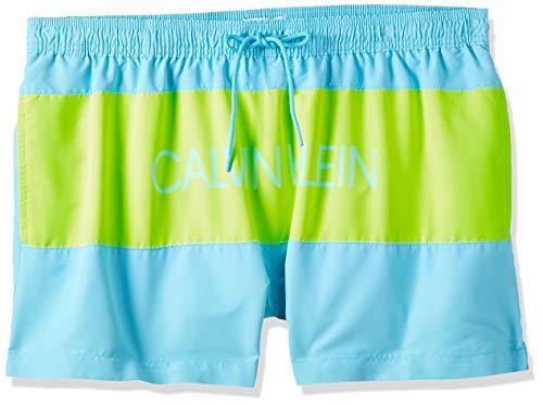 Calvin Klein Short Drawstring Bañador, Azul (Bluefish DW9), L para Hombre