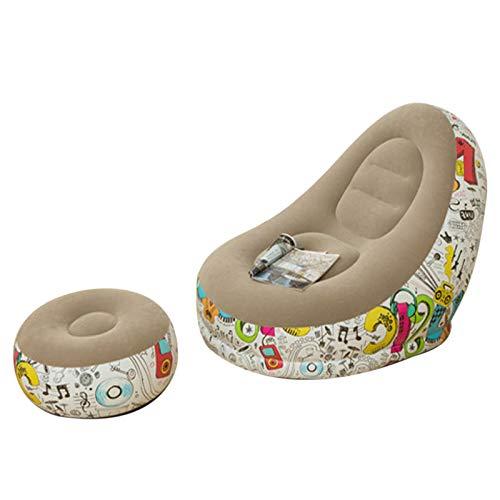 POHOVE Sofá inflable Lazy Loy, silla de salón familiar con cojín de pie inflable, sofá plegable al aire libre, adecuado para el descanso en el hogar o el descanso de la oficina