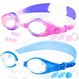 Kids Swim Goggles, Pack of 2, Swimming Glasses for Children Youth and Early Teens from 3 to 15…