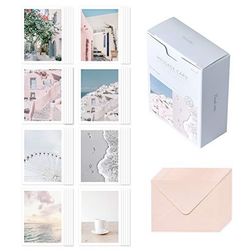 モノライク メッセージカード ミニカード ブレーキタイムバージョン1 Message card Break time ver.1-40枚封筒20枚セットミニサイズデザイン文具お祝いのカード感謝カード