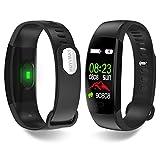 HUYVMAY Orologio Fitness Activity Tracker, IP68 Impermeabile per Donna Uomo Bambini, Bracciale Fitness con Cardiofrequenzimetro Pedometro Sleep Tracker
