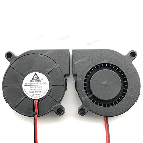 Ayazscmbs 3 PCS Compatible para 24V DC 50mm Blower enfriamiento Ventilador 5015 Hotend Extruder para RepRap 3D Printer