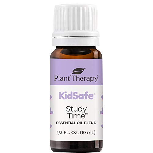 Plant Therapy KidSafe Study Time Essential Oil Blend for Focus, Mind Calming, Concentration Blend for Kids 100% Pure, Undiluted, Natural Aromatherapy, Therapeutic Grade 10 mL (1/3 oz)