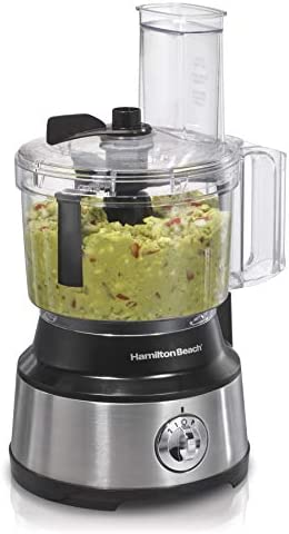 Hamilton Beach Food Processor & Vegetable Chopper for Slicing, Shredding, Mincing, and Puree, 8 Cup, Black