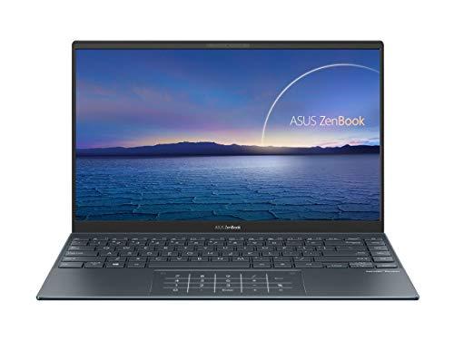 "Newest Asus Zenbook 14"" IPS FHD NanoEdge Bezel Display Ultra-Slim Laptop, 4th Gen AMD Ryzen 7 4700U 8-Core, 16GB RAM, 1TB PCIe SSD, Backlit Keyboard, NumberPad, Windows 10 Pro, Pine Gray"