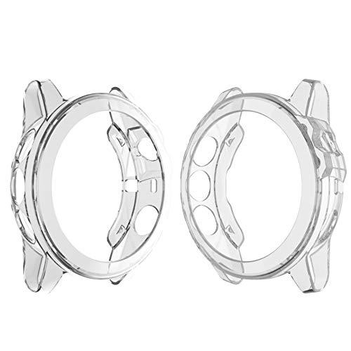 Liwei Adecuada for Garmin Fenix 5 y 5 más la Caja de Reloj Transparente TPU del Gel de Silicona (Blanco Transparente) Los Estilos Populares (Color : Transparent White)