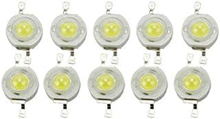 OULII Risparmio 6000-6500K 3W di Alto Potere LED 45mil Chip Perle della Lampada per proiettore faretto Confezione da 10 pz
