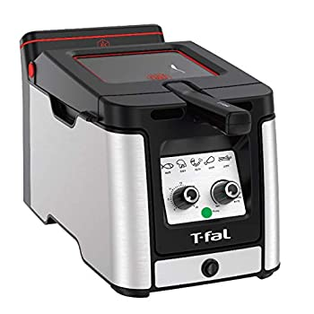 T-fal Odorless Stainless Steel lean Deep Fryer with Filtration System 3.5-Liter Silver