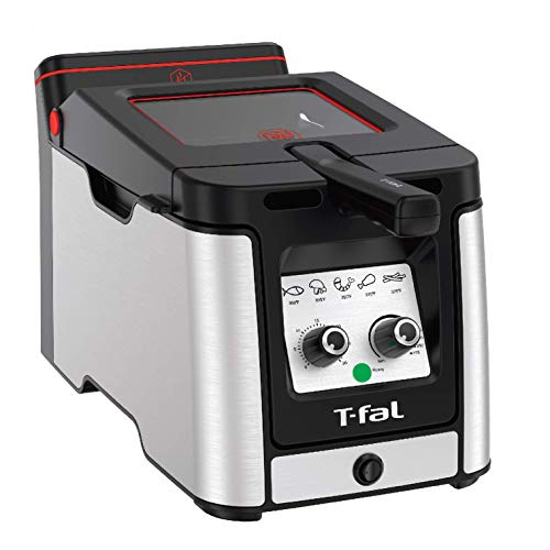 T-fal Odorless Stainless Steel lean Deep Fryer with Filtration System,...