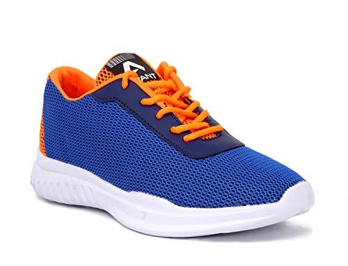 Avant Men's Nitro Running and Gym Shoes - Navy Blue/Orange, UK 10