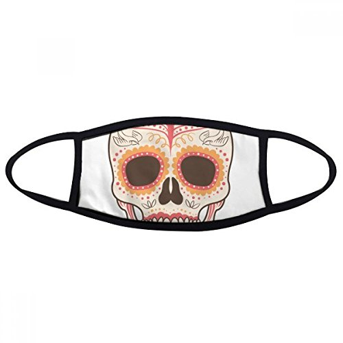 DIYthinker Bloem Vogel Cirrus Roze Schedel Mexico Nationale Cultuur Illustratie Gezicht Anti-Stof Masker Anti Koud Maske