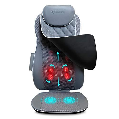 Aront Cojín de masaje Shiatsu con función de calor, sillón de masaje...