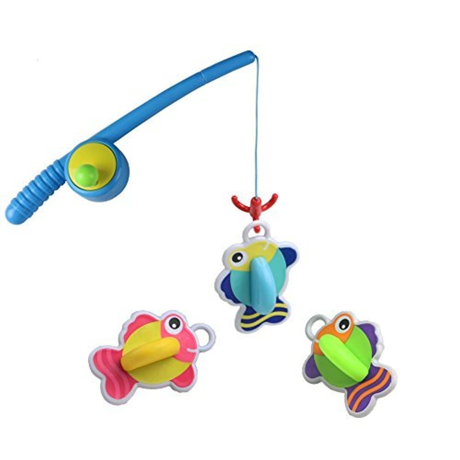 Yixin Bath Toys Fishing Game with Floating Fish Enjoy Bathing Fun Time Great Gift for Baby Kids Girls Boys 2 3 4 Years Old Early EducationRandom delivery [並行輸入品]